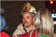 Fire fighter during interview