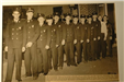 1959 Fire crew standing in a line together
