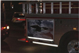 Bald Eagle painting on side of fire truck