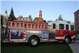 View of memorial fire truck