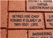 Brick for Retired Fire Chief Howard R Glancy Jr.