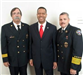 (Left to Right) Deputy Chief Goldfeder, U.S. Fire Administrator Chief Cochran, Chief Huber