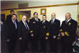 (Left to Right) Chief Ron Sarnicki, Hal Bruno, Deputy Chief Goldfeder, Fire Chief Otto J. Huber, Secretary of Homeland Security Michael Chertoff, Assistant Fire Chief Tom Turner