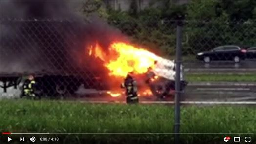 Video image of firefighter in a emergency